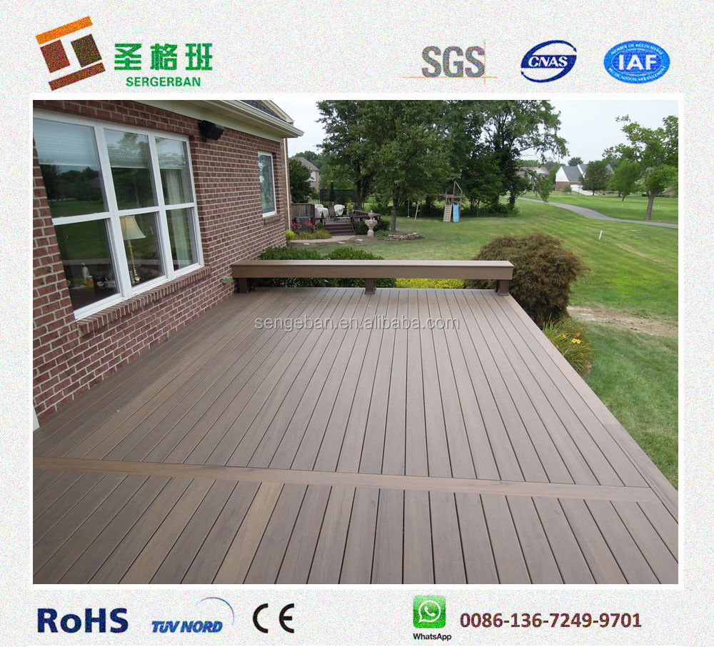 Wood plastic composite slats composite decking prices wpc for The range decking boards