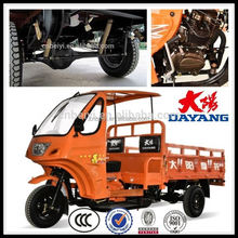 hot ccc 2 seats 200cc air cooled cargo three wheel motorcycle with semi cabin with good quality