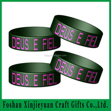 Sport black silicone bracelets for basketball use