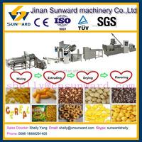 Hot sale snacks machines, corn flour snack extruder machine, snack food equipment/procesisng line