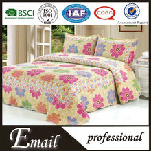 2015 New design colorful flower print cotton bedding set made in china