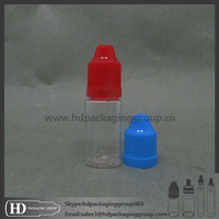 HD clear plastic eliquid bottle square plastic bottle child resistant dripper cap bottle