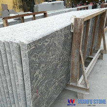 Double bullnose China juparana bordeaux granite countertop