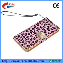 For iPhone 6 Leather Case Ultra Slim Wallet,Leopard Case For Apple iPhone