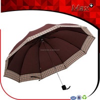 2015 popular 10 ribs men large plaid rain umbrella