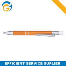 Yellow Simple Spring Twist Metal Ball Pen
