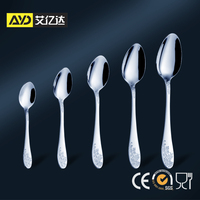 elegant spoon and fork set , korean soup spoon , fork and spoon gift set