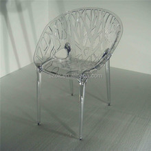 Laser engraving stylish clear acrylic chair made in China