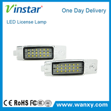 18SMD 6000K white super brightness LED license plate light led auto number plate lights kit for Toyota Hiace Regiusace Vanguard