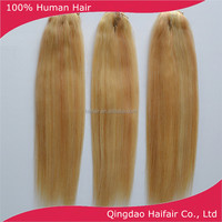 UK style 24/613 brazilian human hair extension with clips 18 inch 90g per set 6 pcs per set in stock