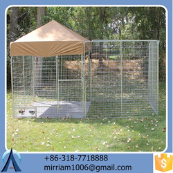 2015 hot sale easy assemble high quality low price wrought iron galvanized outdoor dog cages/dog kennels