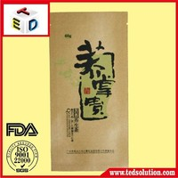 Guangzhou Factory supply kraft paper bag there side seal bag For tea