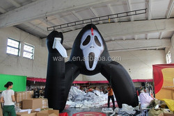 Scream black/16ft halloween decoration inflatable arch/halloween inflatable decoration entrance W73