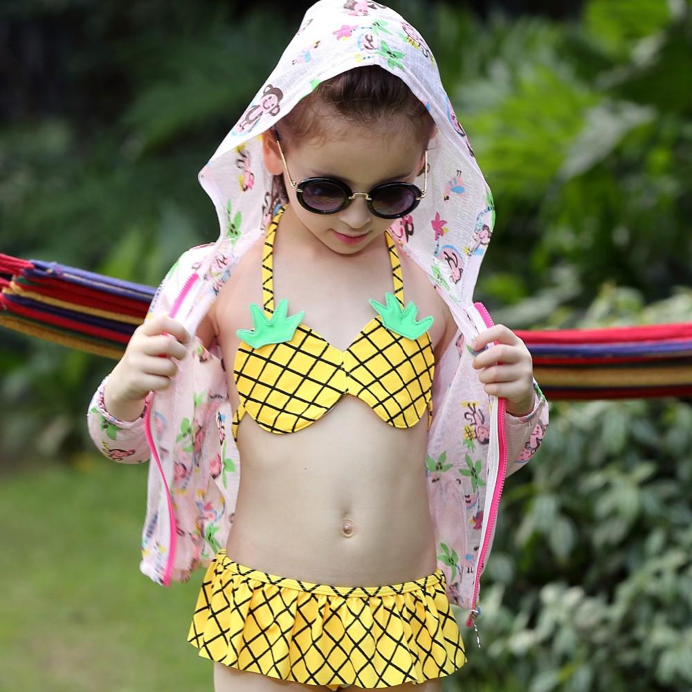 bc1020 fashion new girls cute bikinis korea style baby kids swimwear