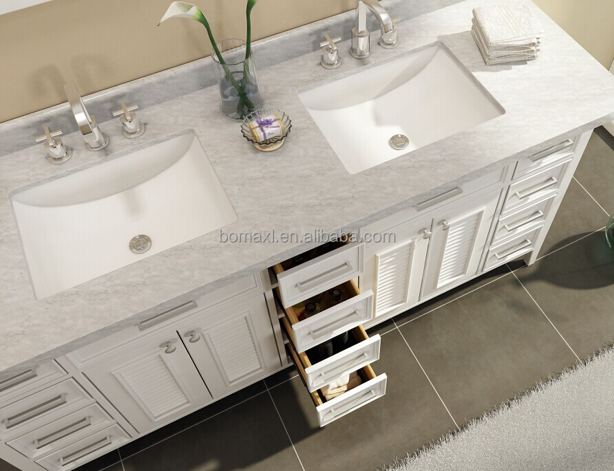 2016 Hign Quality Solid Wood Dual Sink Bathroom Vanities And Sinks View Bath