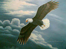 Impression excellent handmade animal eagle painting