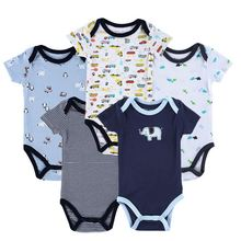 New 2015 Newborn Baby Boy Spring Clothing Sets 100% Cotton Infants Jumpsuit Cute Animal Printed