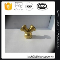 Brass Y Water Filter Y Valve Fittings quick connector
