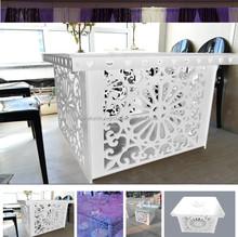 Nuovo design in vetro tavolo da pranzo, nozze decorazione della tavola