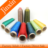 Hot sell Ms type every color metallic yarn thread for Embroidery, Hand Knitting, Knitting, Sewing, Weaving