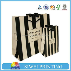 2015 custom luxury printed food grade recycled Promotional fashion art paper shopping bag for essential oil