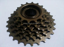 China manufacturer cheap price steel 7 speed freewheel for bike/bicycle free wheel