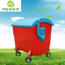Solid recyclable garbage container with lid