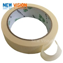 Cream/yellow/brown color masking tape with water based acrylic adhesive