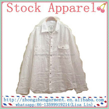 Adults Casual Wear Linen Shirts Blank White Long Sleeve Plus Size