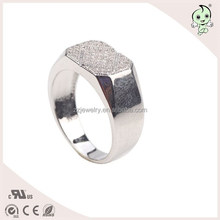 Cheap Price Top Quality Diamond Pave Setting Silver Men Ring