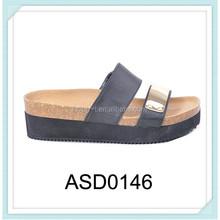2015 china fashion new design eva slipper with gold glitter design