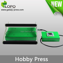 low price mini style Hobby Heat transfer printing Press Machine for t-shirt and phone cases custom design