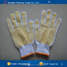 DANFENG MX603 China Goods Wholesale PVC Dotted Cotton White Non-slip Construction Gloves