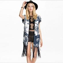 Beach Skirt Swimsuit Cover Up Beachwear Crochet Bikini Swimwear Floral Beach Cardigan Tassel Pareo Playa Beach