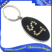custom metal letter key chains