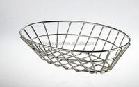 High Quality Elegant Oval shape wire storage basket for fruit vegetable food