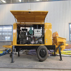 trailer pumping concrete equipment with advanced configuration and reasonable price China supplier