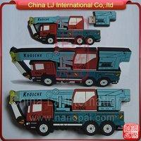 customize crane truck usb flash drive, custom pvc crane carrier usb pen drive