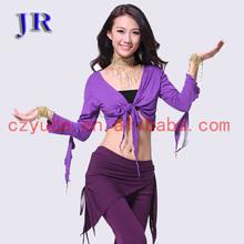Hot selling practice long sleeve belly dance cardigan top wear S-3023#