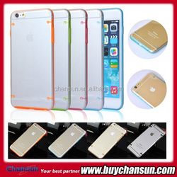 glow in the dark TPU PC transparent mobile phone case for iphone 6 plus,have for iphone 4,5,6
