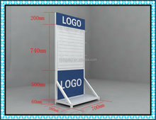 Factory price pegboard display stand with hooks sport accessory metal display rack
