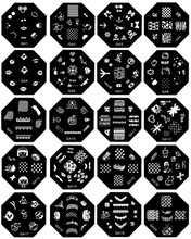 Melodi free sample nail art stamping plate with cheap price