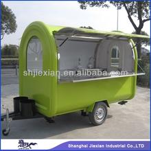 2015 hot sale! Shanghai fashionable JX-FR280B mobile food cart trucks for sale