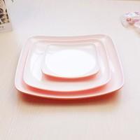 fake ceramice plastic white plate