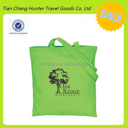 online shopping promotional colored economy cotton shopping bag easy storage bag