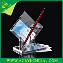2015 Acrylic business card holder with pen holder, acrylic pen holder, name card holder