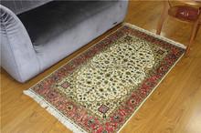 2.5x4 Pure Silk Handmade Baby Pink Carpet Best Silk Carpets