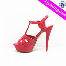 Women Fashion Pu Sandals for Wedding Lady Dress Sandals