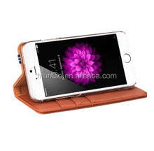 Wholesale Book Style phone cover,Cow Leather cover,mobile case for Apple iPhone 6 4.7""