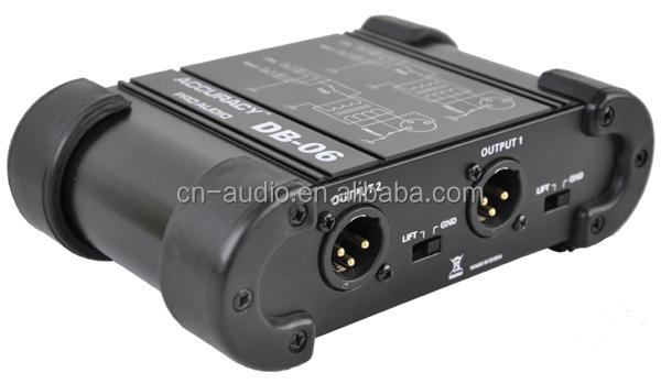 "1/4"" Instrument to 1/4"" XLR Dual Channel DI Box DB-06"